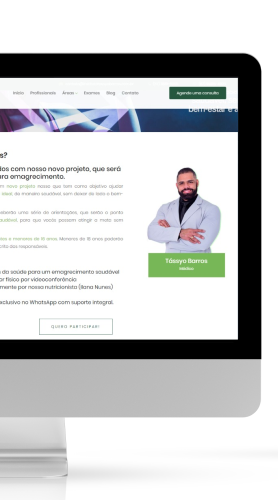 Exemplo landing page